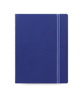 Uk Filofax A5 Refillable Leather look Ruled Notebook Diary Blue 115009