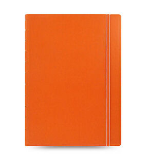 Uk Filofax A4 Size Refillable Leather look Ruled Notebook Diary Orange 115025