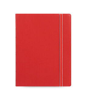 Uk Filofax A5 Refillable Leather look Ruled Notebook Diary Red 115008