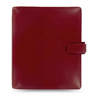 Uk Filofax A5 Metropol Organiser Planner Notebook Diary Red Leather 026972