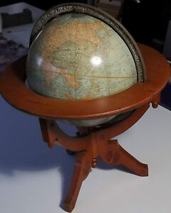 1891 Rand Mcnally Co S Twelve Inch Terrestrial Globe