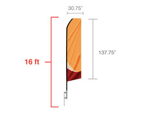 Advertising Flags econo Feather Flag outdoor Flag ground Spike Included 16ft