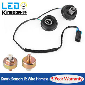 2x Knock Sensor With Harness Pair Kit Set For 2001 2007 Chevy Express 1500 Gmc