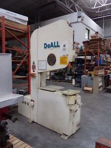 Doall 36 Vertical Band Saw Model 2v3620