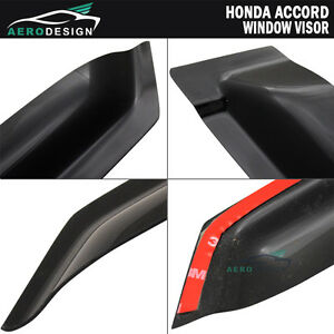 For 98 02 Honda Accord 4dr Window Visors Vent Shades Guards Deflector