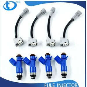 4x New 410cc Fuel Injectors W Plug Play Adapters Fit For Honda Acura Rdx