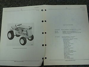 International Harvester Ih Model 124 Cub Cadet Tractor Parts Catalog Manual Book