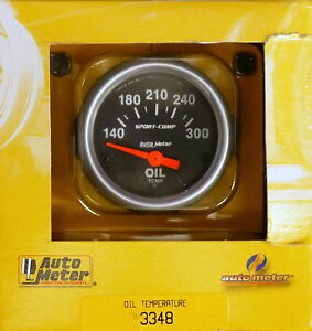 Auto Meter 3348 Sport Comp Electric Oil Temperature Gauge 100 300 F 2 1 16