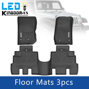 Floor Mats For 2014 2018 Jeep Wrangler Jk Unlimited Full Set Liners All Weather