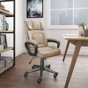 High Back Ergonomic Executive Office Chair Durable Padded Arm Computer Desk Seat
