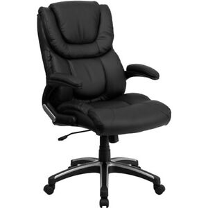 High Back Executive Office Chair Leather Ergonomic Work Desk Swivel Padded Seat