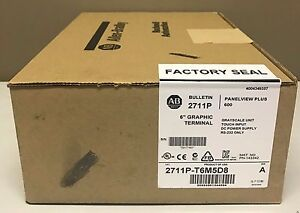 New Sealed Allen bradley 2711p t6m5d8 Panelview Plus 6 600 Touch rs232 Dc