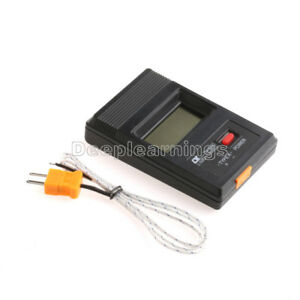 Tm902c Lcd K Type Thermometer Temperature Meter Probe Thermocouple Probe
