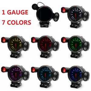 3 5 Tachometer Gauge 0 11000 Rpm Meter Black Face 7 Color Led With Shift Light