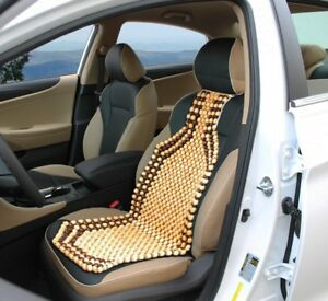 Massage Car Seat Cover Natural Wood Beaded Cushion Therapy Chair Back Comfort