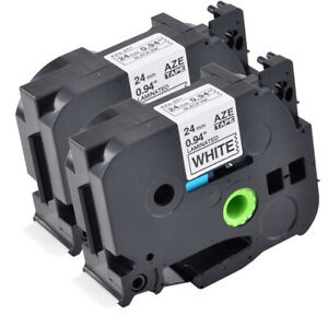 Compatible With Brother 2pk Tz 251 Tze251 Black On White Label Tape Pt2730
