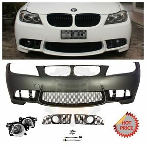 2009 11 E90 Lci M3 Style Front Bumper For Bmw 3 Series W Clear Lens Fog Lights