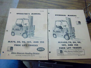 White Fork Lift Truck Repair maintenance Manual white Ma70 ma80 ma90 ma100 ma120