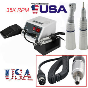 Usa Dental Marathon Micro Motor 35k With Straight Contra Angle Handpiece Kit