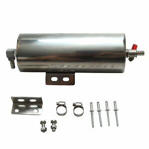 3 X 8 Stainless Steel Radiator Overflow Tank Catch Can Reliable Performance
