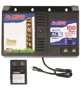 Fi shock Eac100m fs Ac Powered Low Impedance Electric Fence Charger Battery