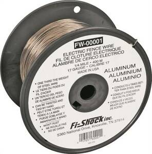 Fi shock Fw 00001t Electric Fence Wire 17 Ga Wire 1320 Ft L Aluminum