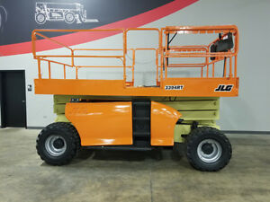 2004 Jlg 3394rt 2250lb Pneumatic Scissor Lift Dual Fuel 4x4 Rough Terrain Lift