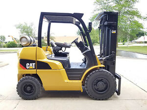 2011 Cat Caterpillar P8000 8000lb Pneumatic Forklift Lpg Lift Truck Hi Lo 88 187