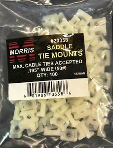 Pack Cable Tie Mount Saddle Accepted 195 Wide 50 20358 Qty 100