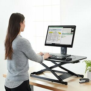 Adjustable Sit stand Standing Desk Work Station Monitor Machine Drafting Dual