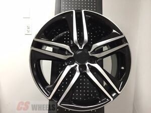19 Sport Style Fits Honda Accord Sport Civic Si Exl Brand New Black Alloy Wheels