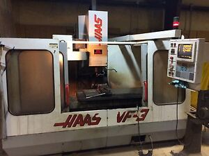 Haas Vf 3 Cnc Vertical Machining Center Mill Ct40 4020 4th Axis Ready 40x20 1995