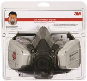 3m 62093ha1 c Half Face Mask Lead Paint Removal Respirator Adjustable 99 97