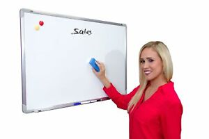 Large Magnetic Dry Erase Board 24x36 Large White Board