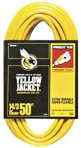 Yellow Jacket 2887 Sjtw Extension Cord With Powerlite Indicator Plug 3 14 Aw