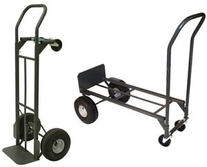 Convertible Hand Truck Dolly Cart Moving Heavy Duty Milwaukee Steel Black