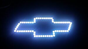 Rgb Led Color Changing Chevy Bow Tie Halo Silverado Tahoe Suburban 24 Key Ir