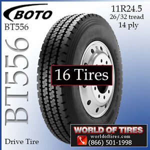 Commercial Truck Tires 11r24 5 Bt556 Set Of 16 293 Each Free Shipping