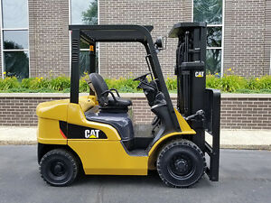 2006 Cat Caterpillar P5000 5000lb Pneumatic Forklift Diesel Lift Truck Hi Lo