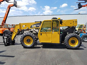2007 Cat Caterpillar Tl943 9000lb Pneumatic Telehandler Telescopic Forklift Cab