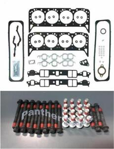 Mahle Cylinder Head Gasket Set Bolts For Chevy Gmc 5 7 350 Vin k Tbi 1987 1996