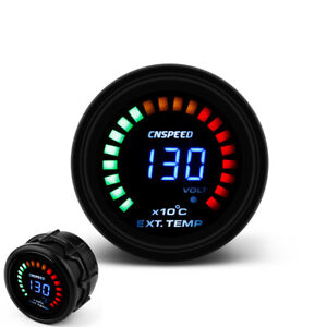 2 52mm Auto Egt Exhaust Gas Temp Gauge Auto Car Led Digital Temperature Meter