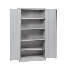 Utility Cabinets For Garage Floor Storage Metal Gray Wall Tool Organizer Steel