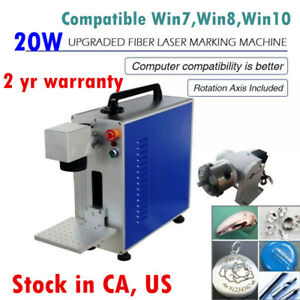 Us 20w Fiber Laser Marking Metal Engravingez Cad Fda Certified With Ratory Axis