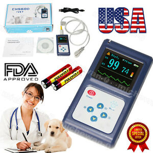 Cms60dvet Veterinary Spo2 Pulse Oximeter Oled software alarm Battery Fda Us