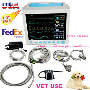 Veterinary Animal Icu Patient Monitor Vital Signs Machine 6 Parameters usa Fedex