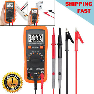 True Rms Digital Multimeter Auto Range Ac dc Voltage Current 6000 Counts Tester