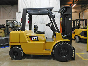 2006 Cat Caterpillar Gp40k1 8000lb Pneumatic Forklift Lpg Lift Truck 89 187