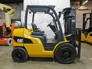 2011 Cat Caterpillar P8000 8000lb Pneumatic Forklift Lpg Lift Truck Hi Lo 85 174