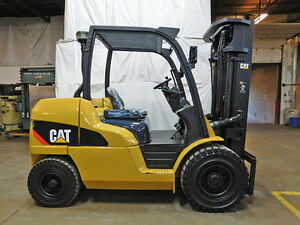 2012 Cat Caterpillar Pd10000 10000lb Pneumatic Forklift Diesel Lift Truck Hi Lo
